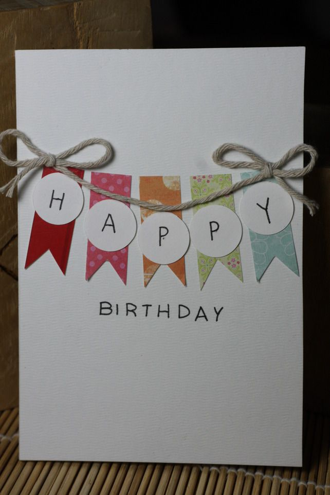 Modern Birthday Card Handmade Birthday Cards Birthday Cards