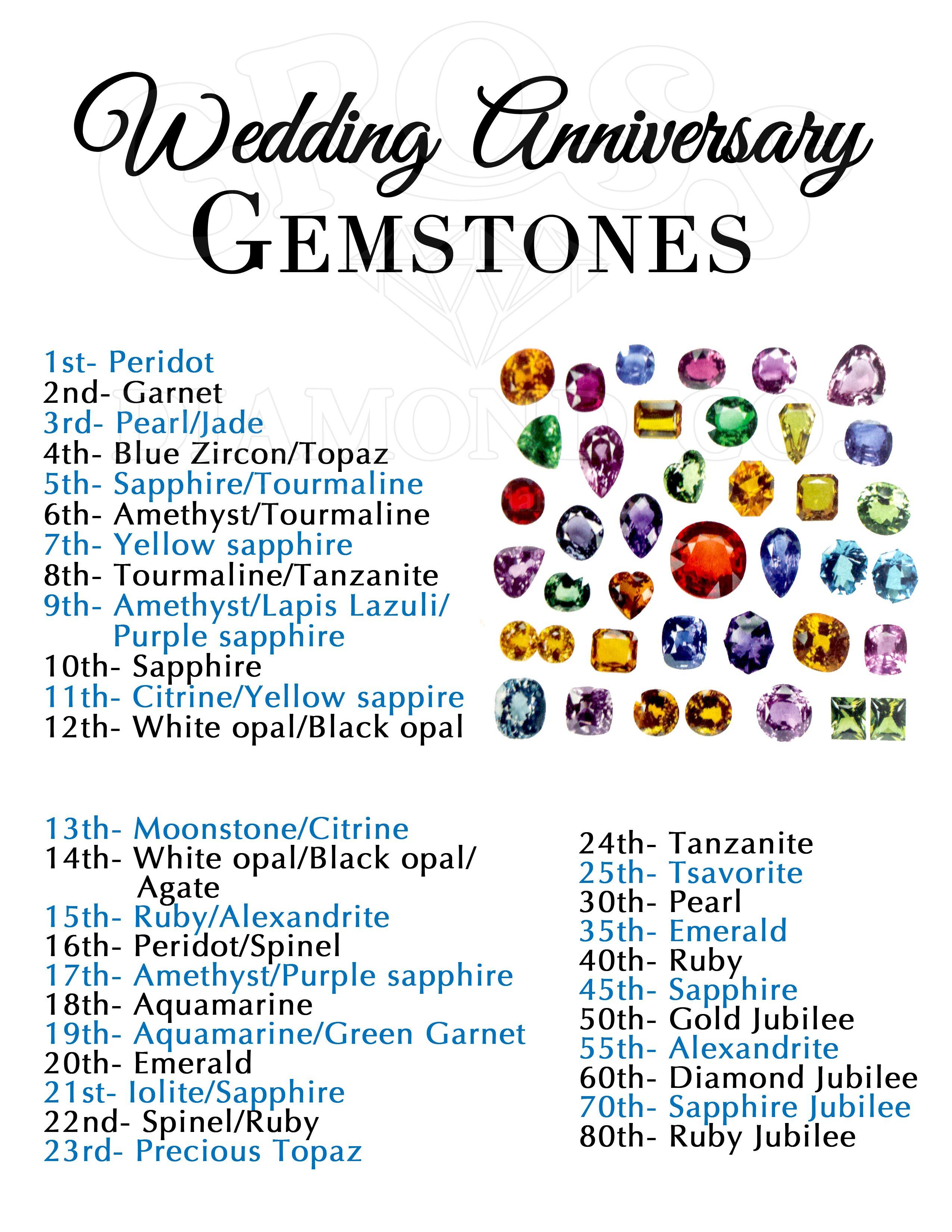 Wedding Anniversary Gemstones Diamond S Jewelry Marriage