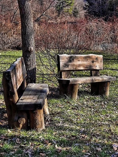 love love love these rugged outdoor benches diy crafts. Black Bedroom Furniture Sets. Home Design Ideas