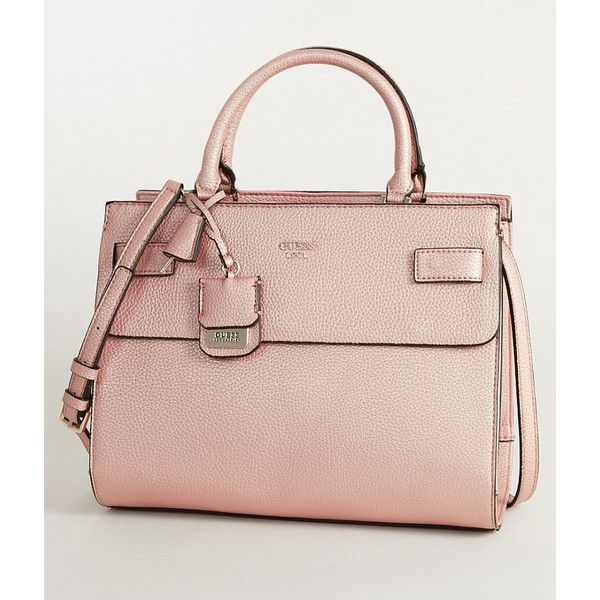 Guess Cate Purse 118 Liked On Polyvore Featuring Bags Handbags Pink Hand Bag Bagan