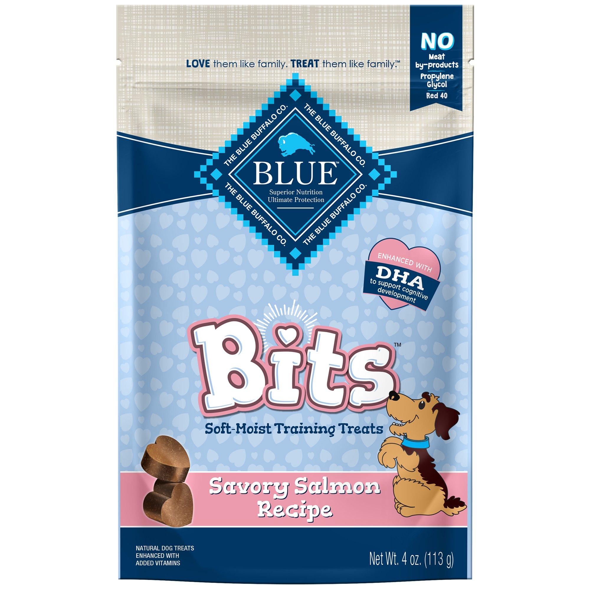 Blue Buffalo Blue Bits Savory Salmon Soft Moist Training Dog