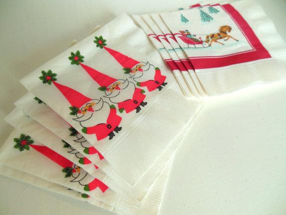 Vintage Paper Ephemera Napkins Christmas by vintagebytheseashore, $4.00