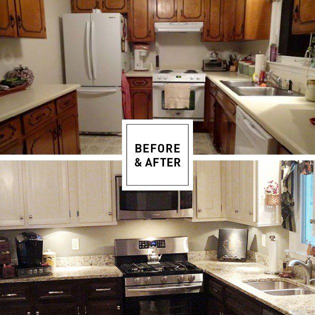 Chair Rail Molding Kitchen Part - 49: Add Chair Rail Moulding To Cover The Old Lines On The Cabinet Face ...