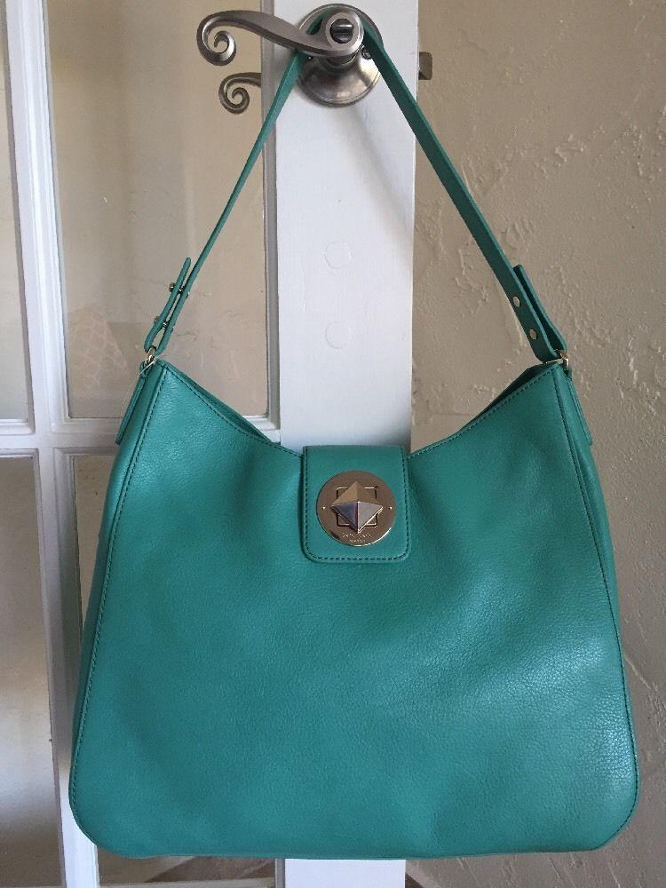 Kate Spade Chrystie Street Jamie Verna Turquoise Shoulder Bag Leather  WKRU2585  1eebef446963d