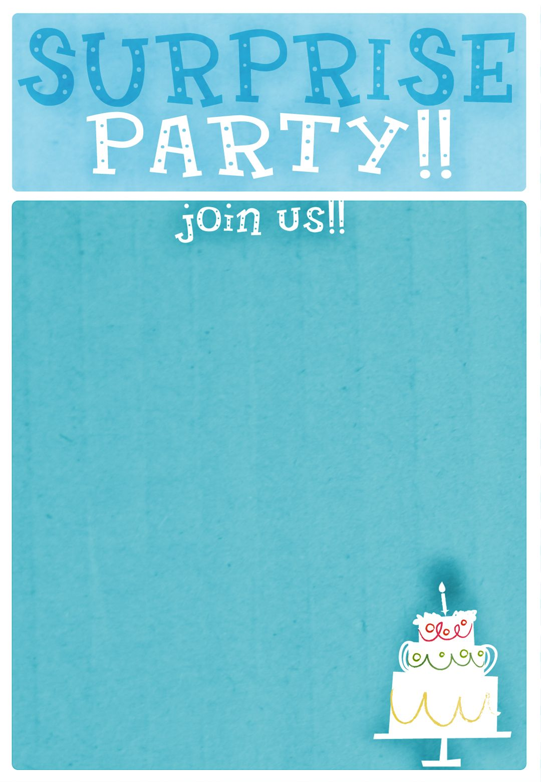 Free Printable Surprise Party!! Invitation | ♥ Freebie Printables ...