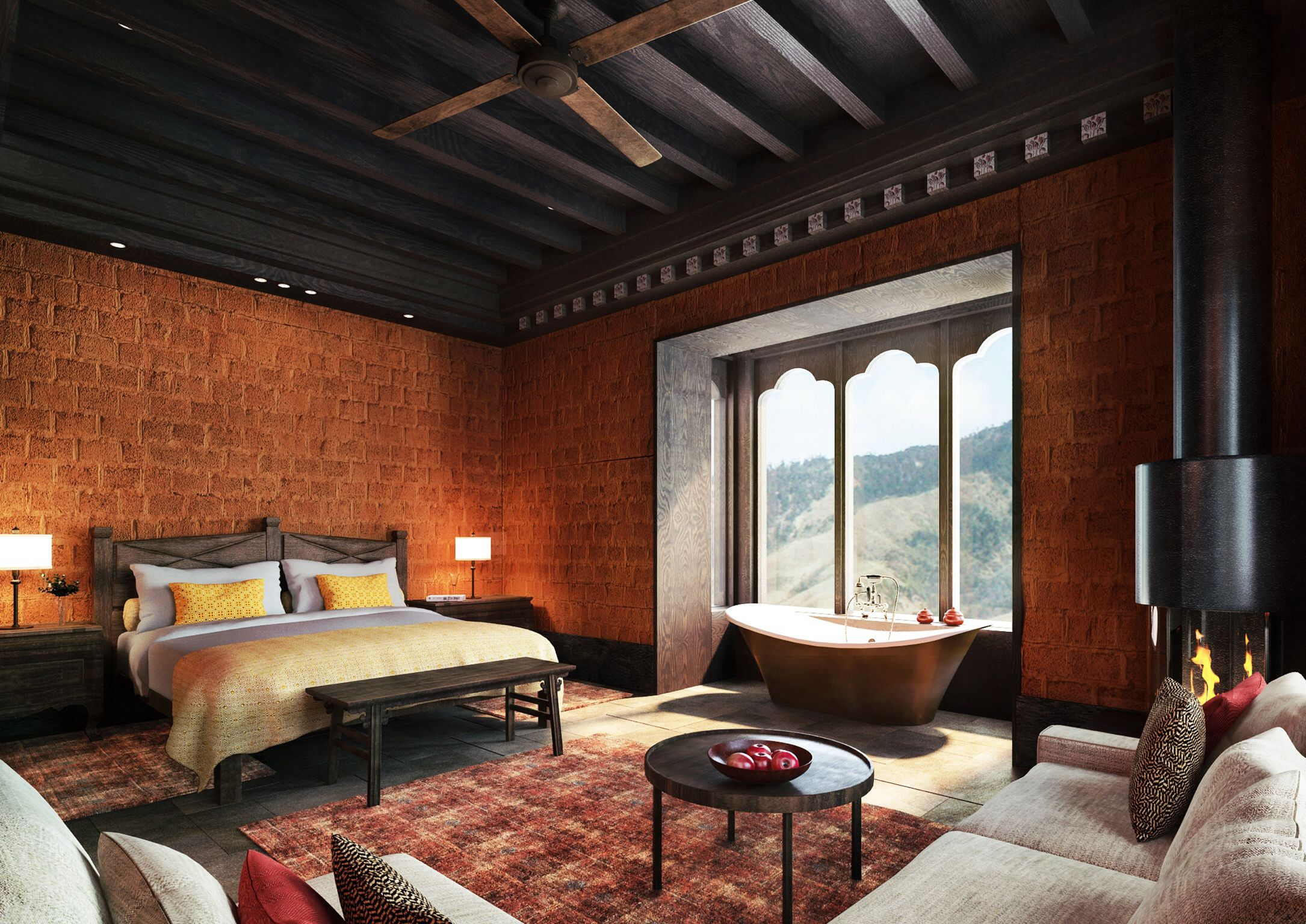 The Best Claw Foot Bathtub In All Of Bhutan At Gangtey Goenpa Lodge Boutique Hotels Interiors Hotel Architecture Bhutan