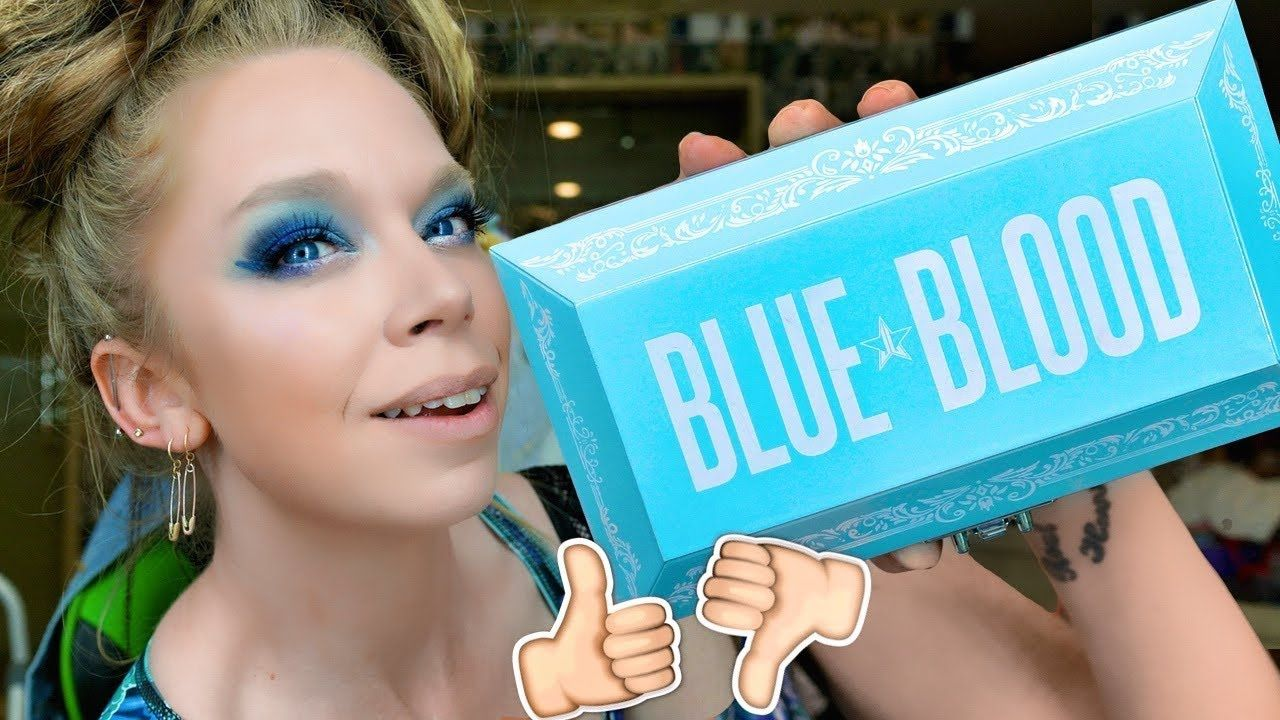 Jeffree Star BLUE BLOOD Palette REVIEW, SWATCHES