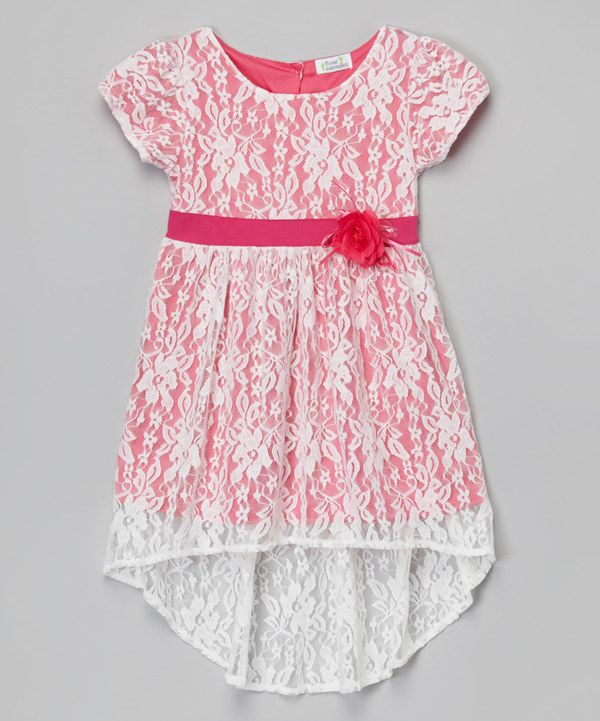 Look at this Fuchsia Floral Pleated Chiffon Babydoll Dress - Toddler & Girls on #zulily today!
