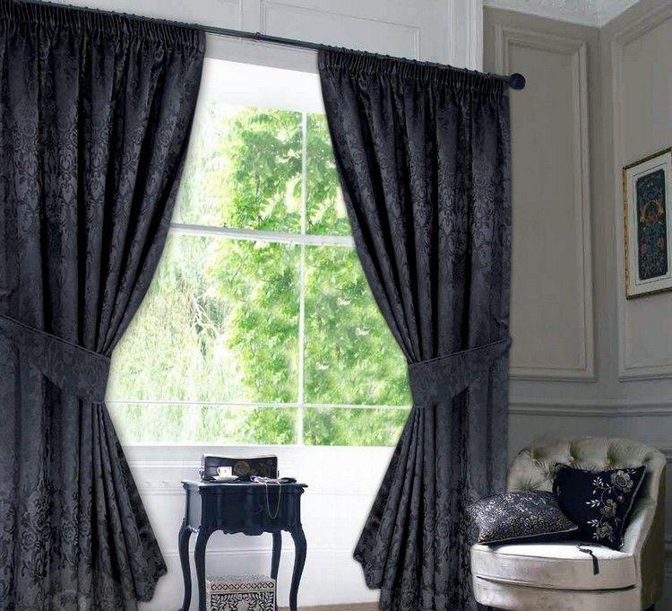 Schwarze wohnzimmer vorh nge im barock stil draperii living room room i curtains - Schwarze gardinen ...