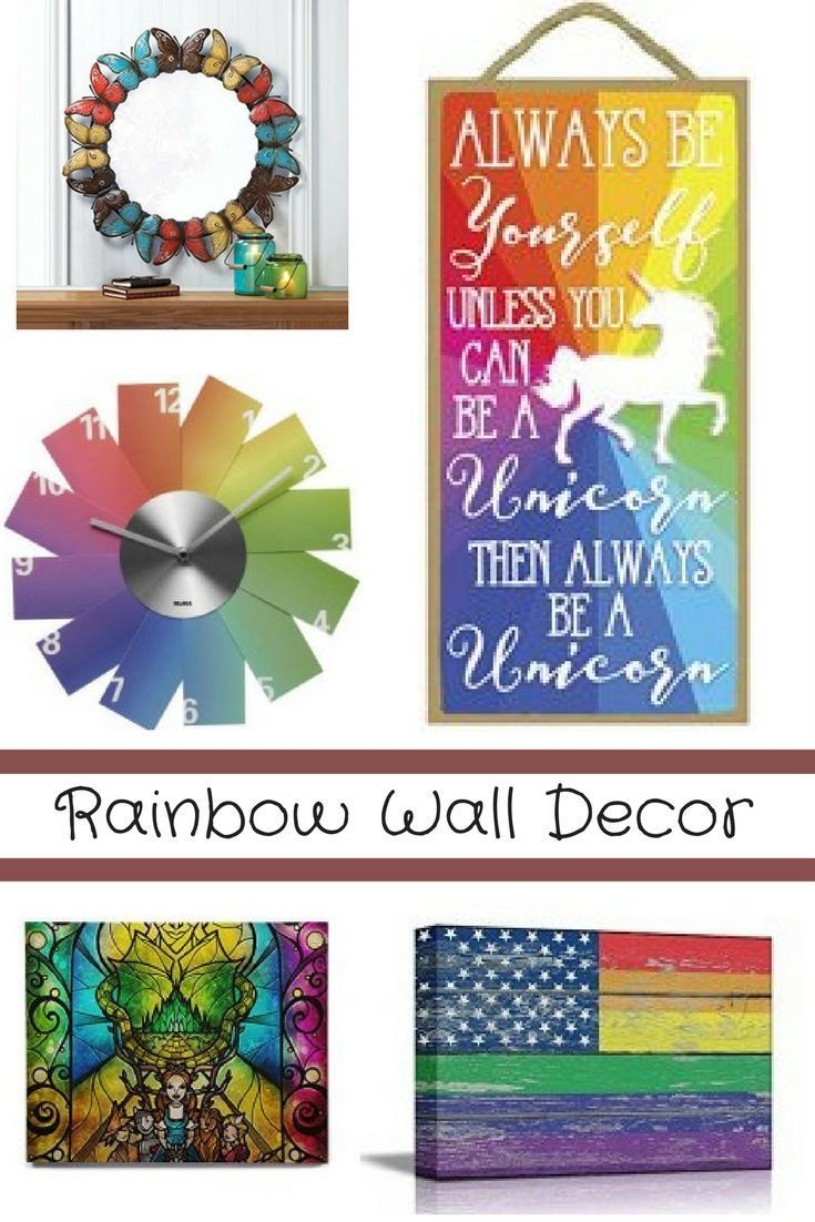 I love rainbow wall décor it is super cute colorful and trendy it