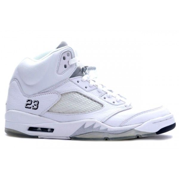 136045 101 Air Jordan 5 (V) Retro White Metallic Silver Black cheap Jordan  If you want to look 136045 101 Air Jordan 5 (V) Retro White Metallic Silver  Black ...