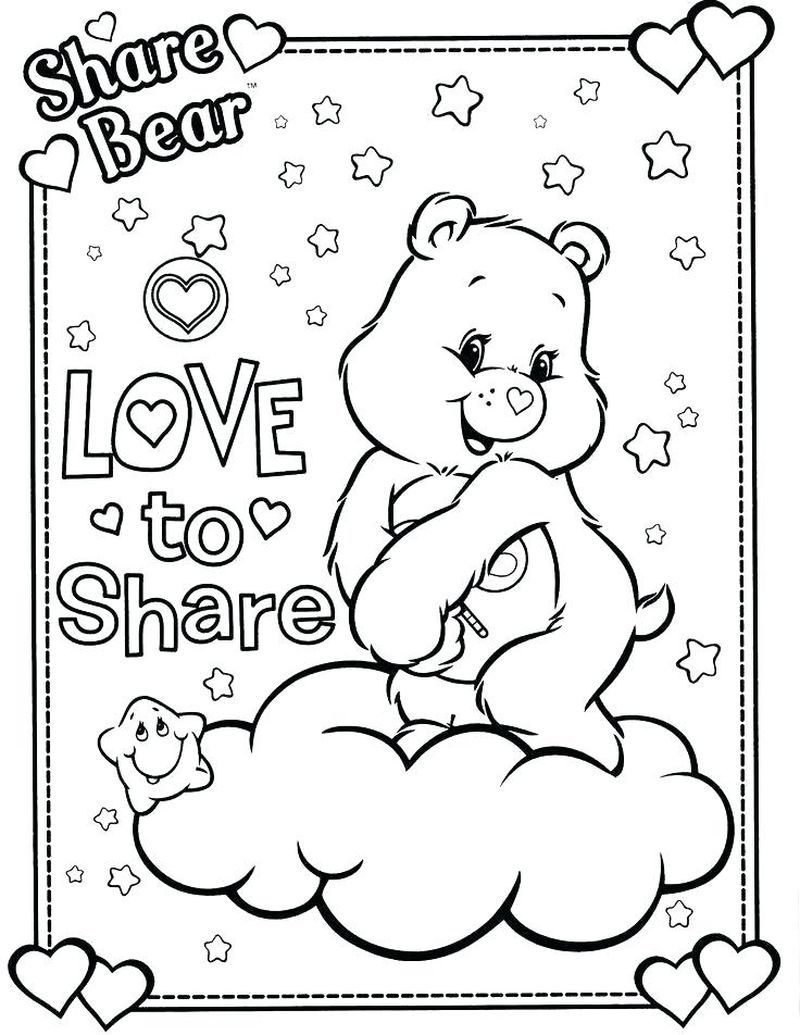 Care Bear Rainbow Coloring Pages Bear Coloring Pages Coloring Books Disney Coloring Pages
