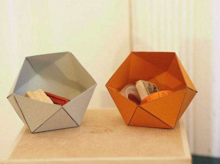 diy anleitung geometrische papierschachtel falten origami diy tutorial folding geometrical. Black Bedroom Furniture Sets. Home Design Ideas