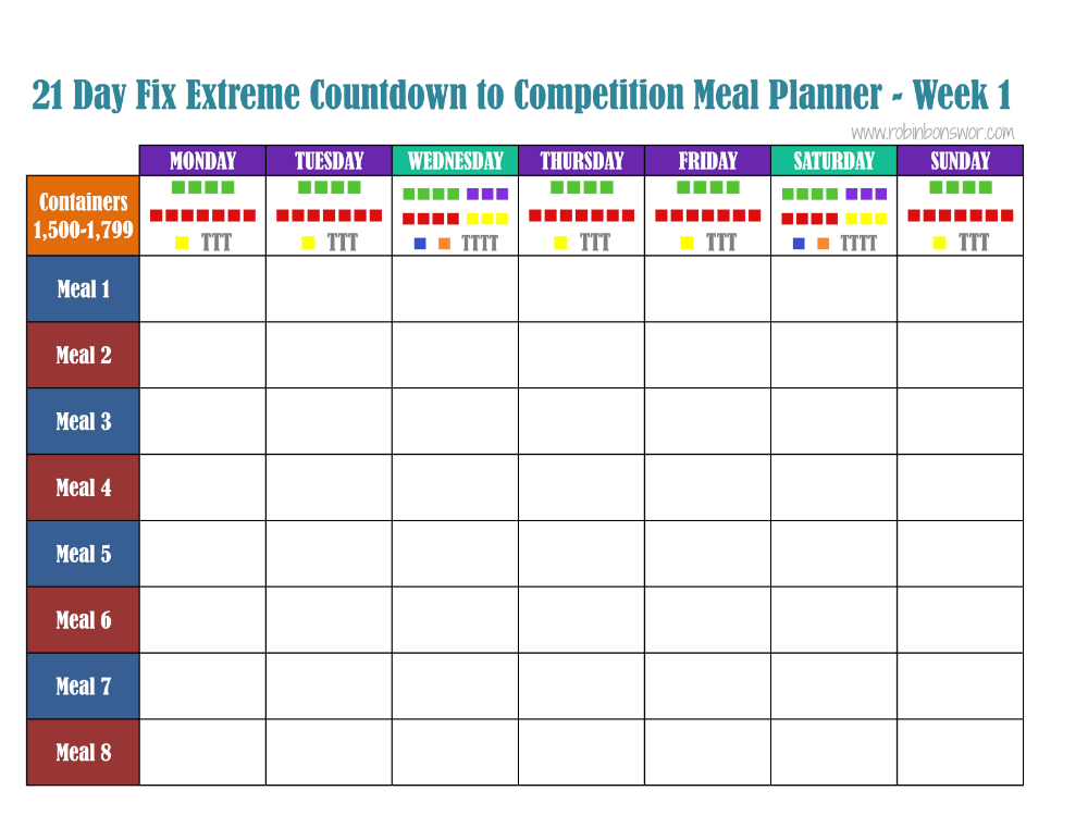 041 Excel Meal Planning Template Plan Meal planning