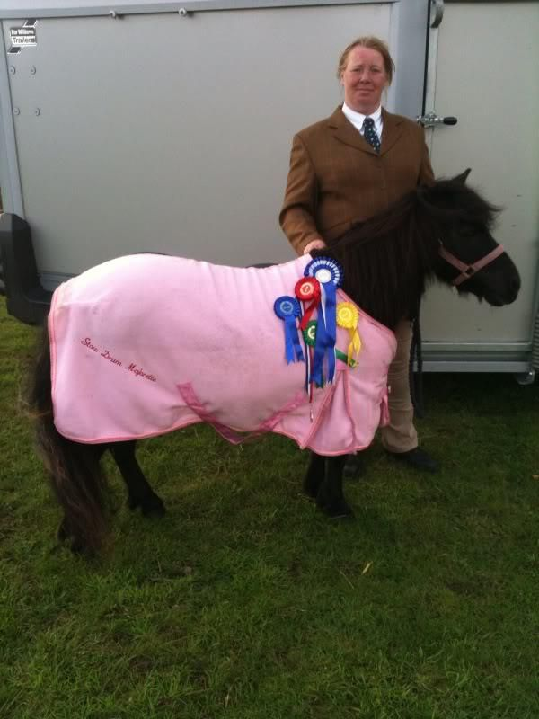 Sweeps Pony Club from Facebook: Wearing my Fuller Fillies Show jacket and Fuller Fillies show shirt, We won a hoard of rossettes including 1st best turned out and Reserve Champion.  The little Shetland is.... Stow Drum Majorette still showing and winning at 23 years old Marley x