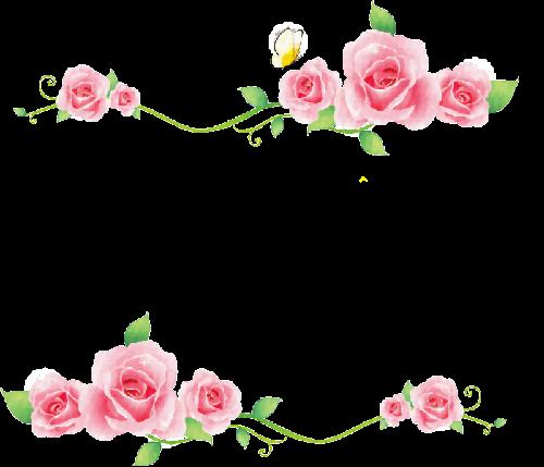Scrap Rosas Vintage Arte Para Decoracion Ilustraciones Flower Frame Png Flower Border Flower Cards