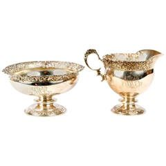 Tiffany & Co. Sterling Silver Beaux Arts Sugar and Creamer