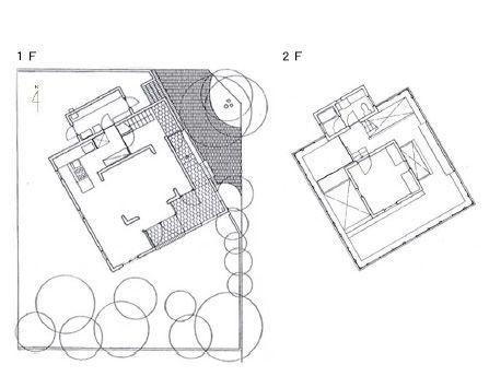 正しく古いものは永遠に新しい 阿部勤 邸 家 建築家 平面図