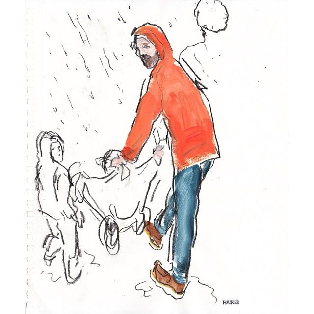 ☔️ Seems appropriate #rain #fathersday Sunday London Times #regram #Padgram