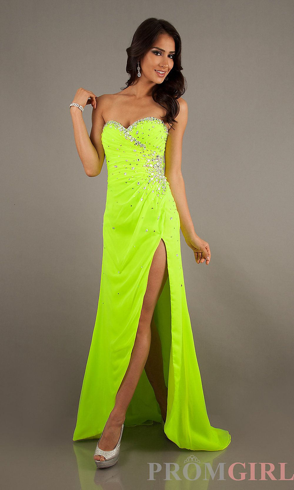 Yellow neon prom dress fotos