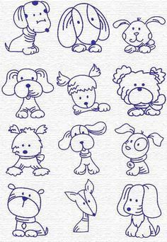 Doodle Dogs Drawings Google Search Embroidery Patterns