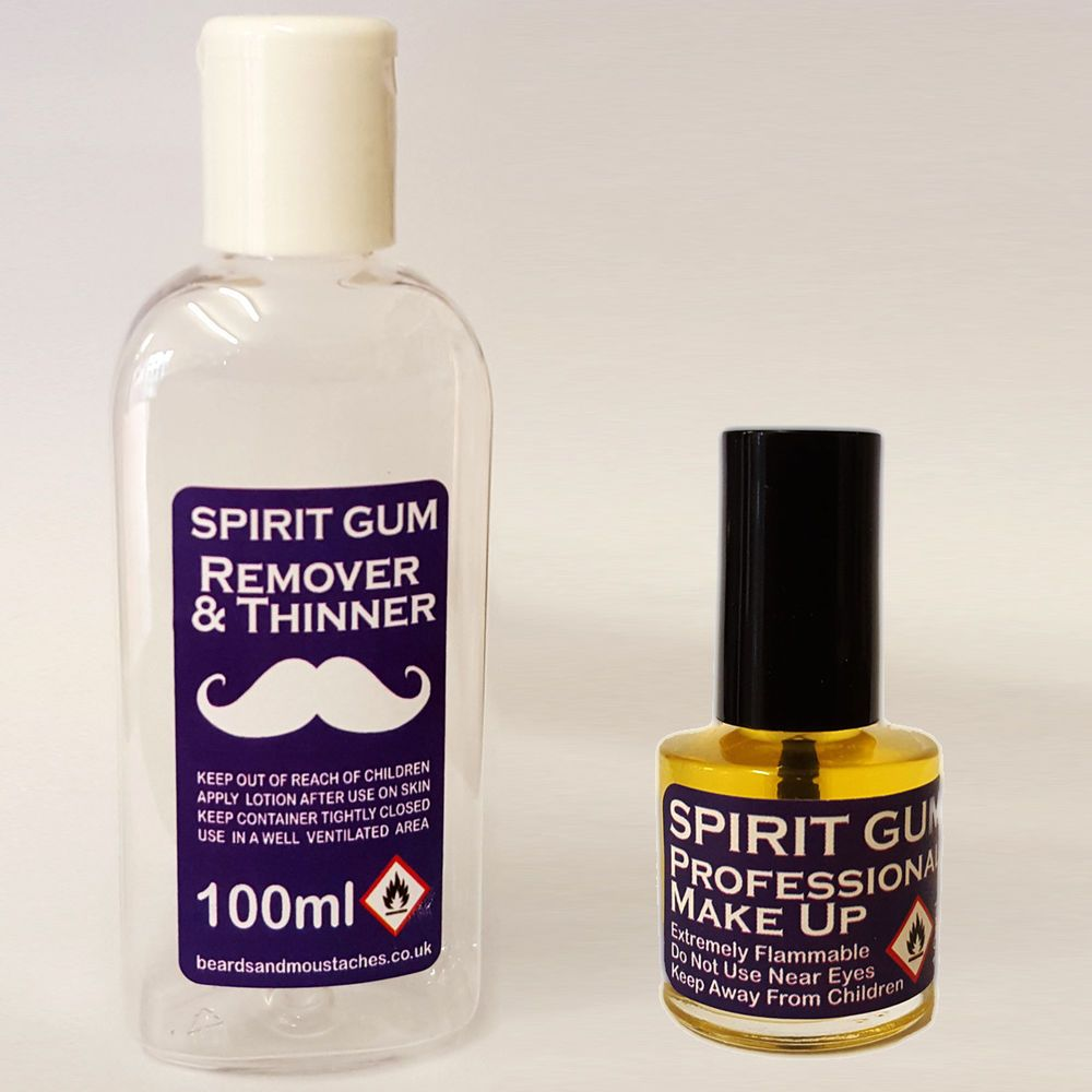 Spirit Gum Remover for cleaning the Spirit Gum after use. Professional Spirit Gum Adhesive for attaching Facial Hair Pieces, False beards and moustaches. | eBay! #gumremoval