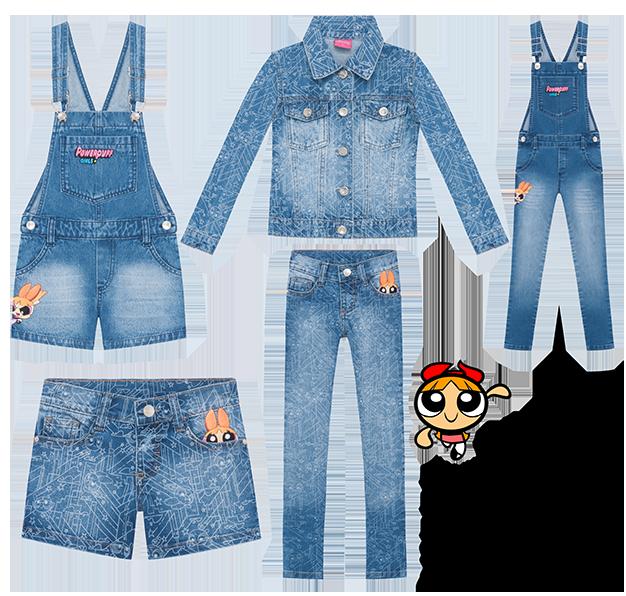 Coleção jeans meninas superpoderosas para a C&A