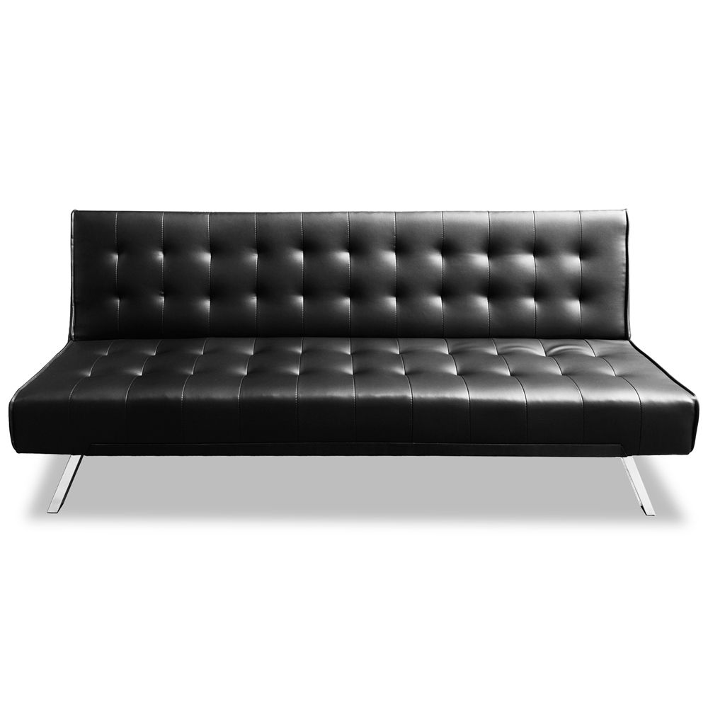 Luxo Chesney 3 Seater Sofa Bed Black Luxo Living Living