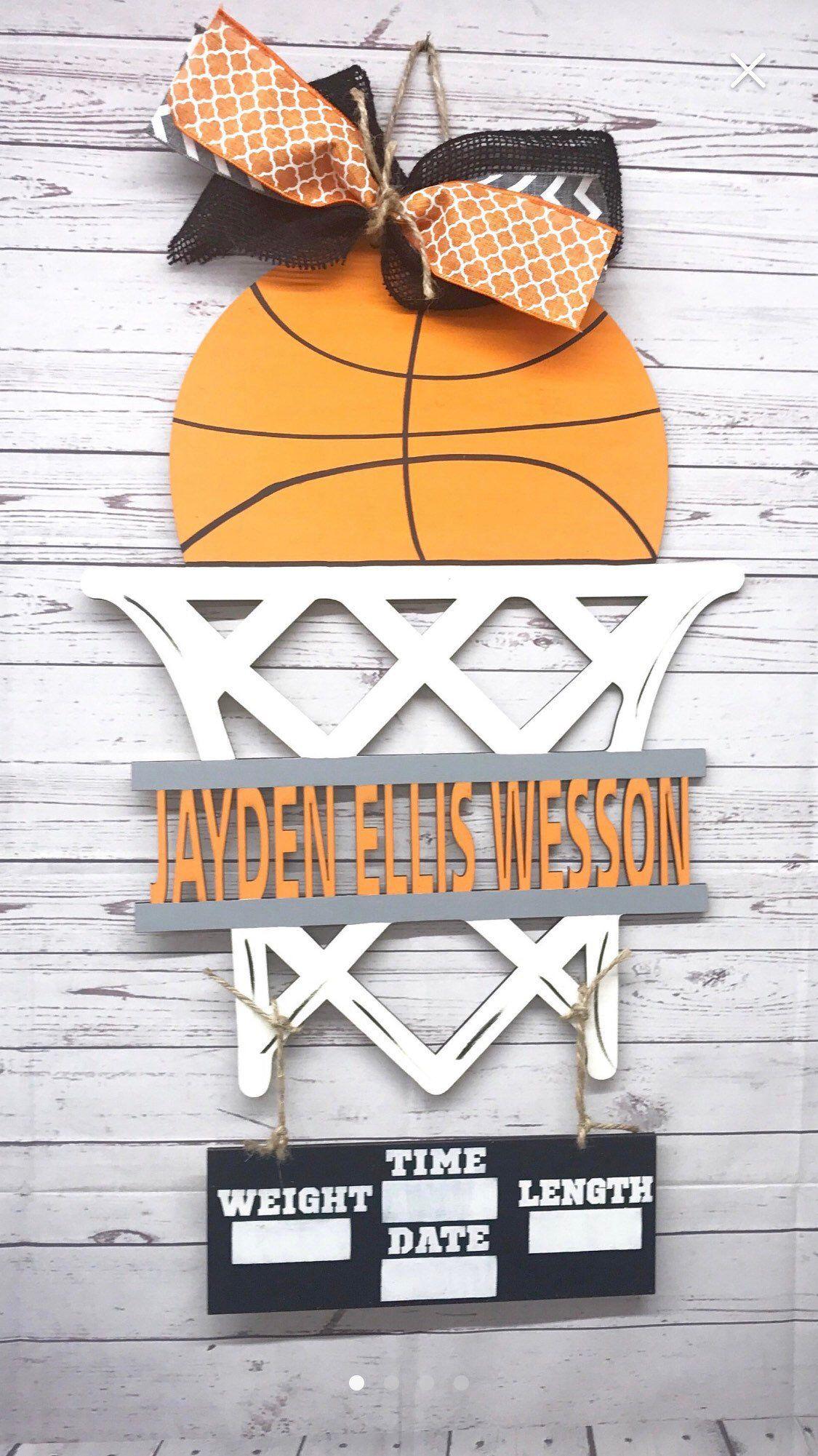 Large Door Hanger Basketball Door Hanger Sports Door Hanger Basketball Wreath Personalized Basketball Door Hanger Basketball Decoration