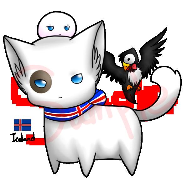 Neko and mochi - Iceland by Saya-Alphaling.deviantart.com on @DeviantArt