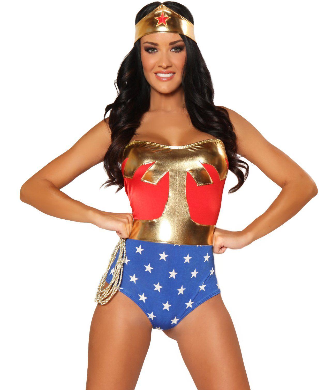 Amazon.com: 3WISHES 'American Hero Costume' Sexy Superhero Costume ...
