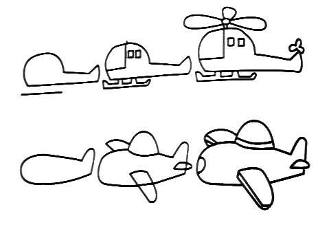 Draw airplanes learn draw trains