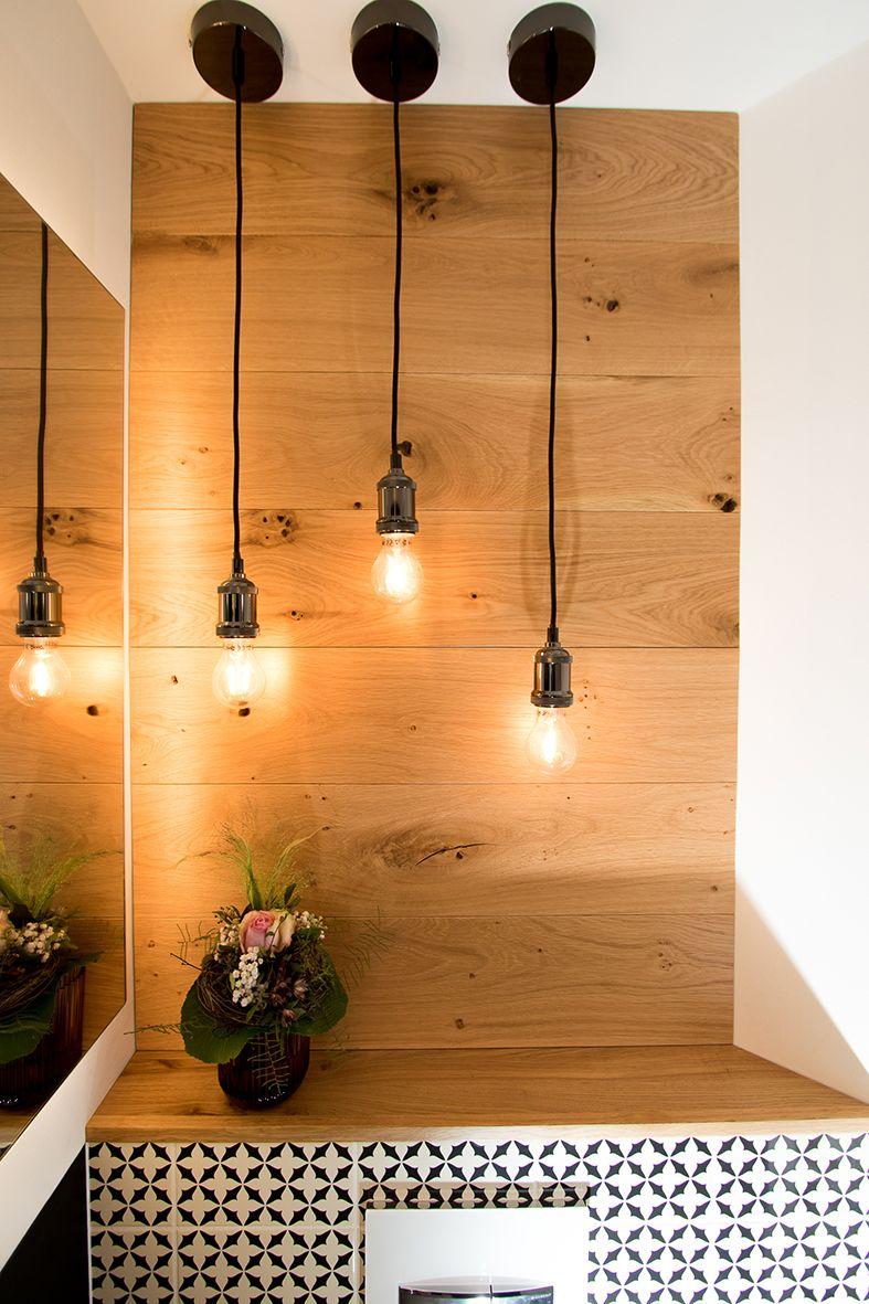 #Gäste-WC mit viel #Holz