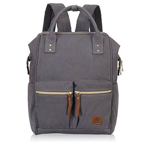 0fab0d37f6cd Veegul Stylish Doctor Style Multipurpose Canvas School Travel Backpack for Men  Women Dual Pockets Grey VGD
