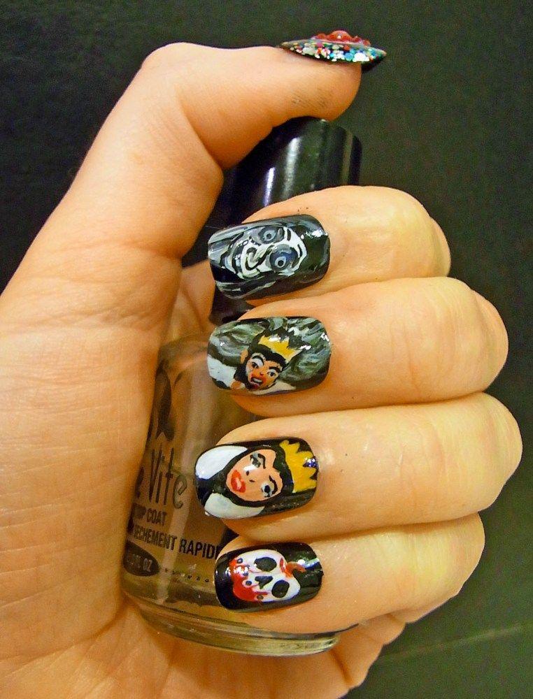 Snow White Evil Queen Nail Art | Snow white evil queen, Nail nail ...
