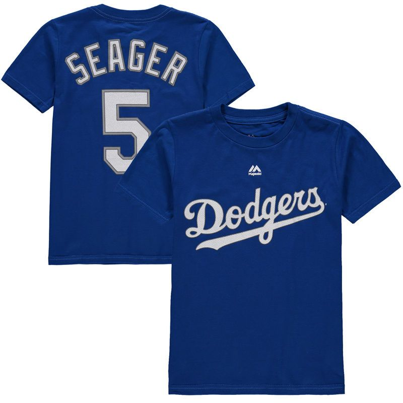 Corey Seager Los Angeles Dodgers Majestic Preschool Player Name and Number T -Shirt - Royal 8697caf03