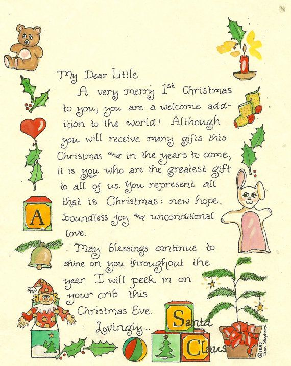 Letter from santa for first christmas tugs at the heart strings letter from santa for first christmas spiritdancerdesigns Gallery
