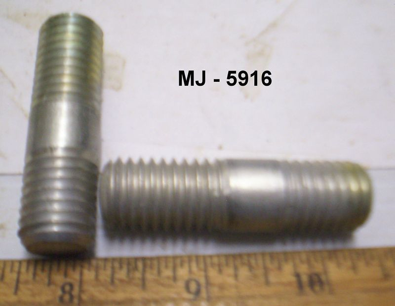 Lot Of 2 Steel Threaded Studs Bolts Nos Stud Bolt Threaded Rods Steel