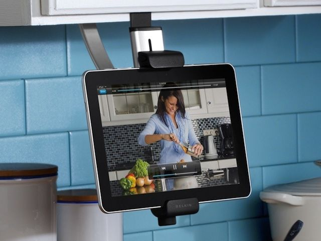 This Kitchen IPad Holder Lets You Cook From Recipes And Cooking Shows  Conveniently. Great For