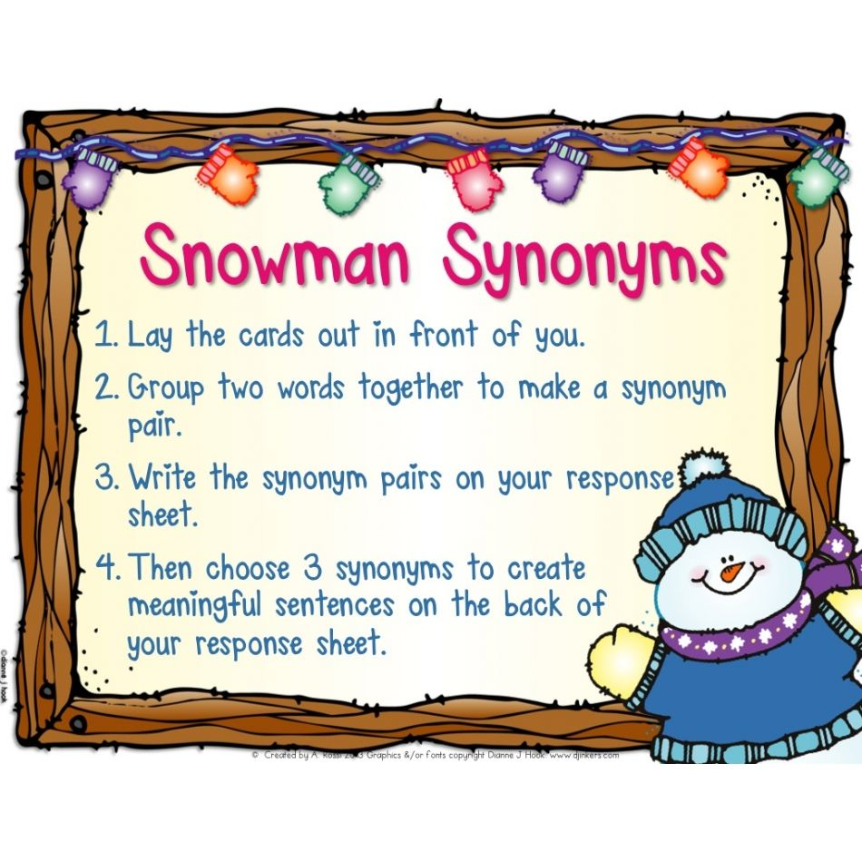 100% OFF! Snowman Synonyms Educents