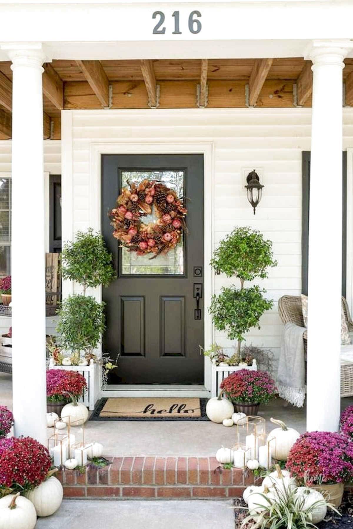 48 farmhouse porch design decor ideas in 2020 fall