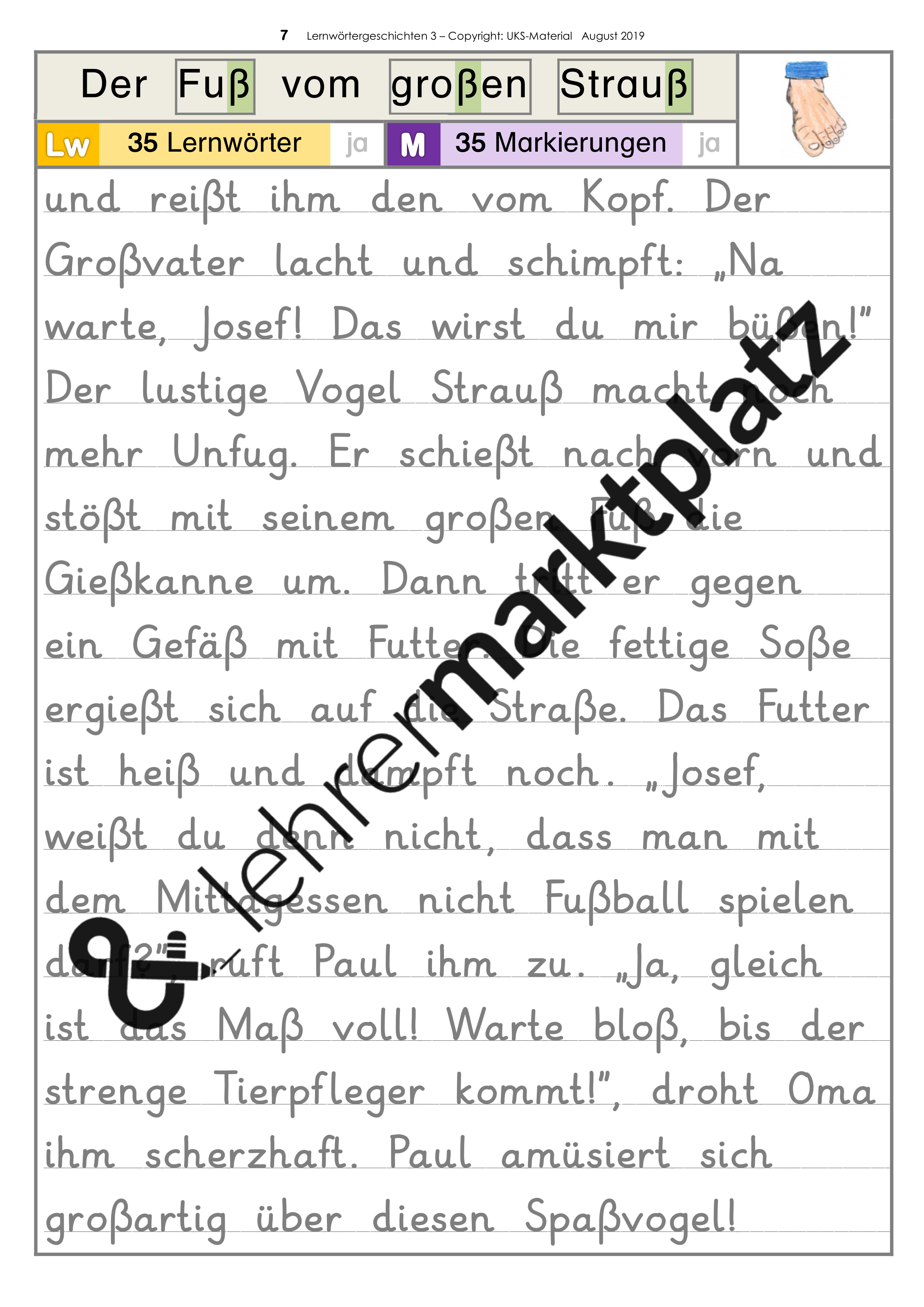 LERNWÖRTER-Geschichten - Schülerheft 3 - in Grundschrift