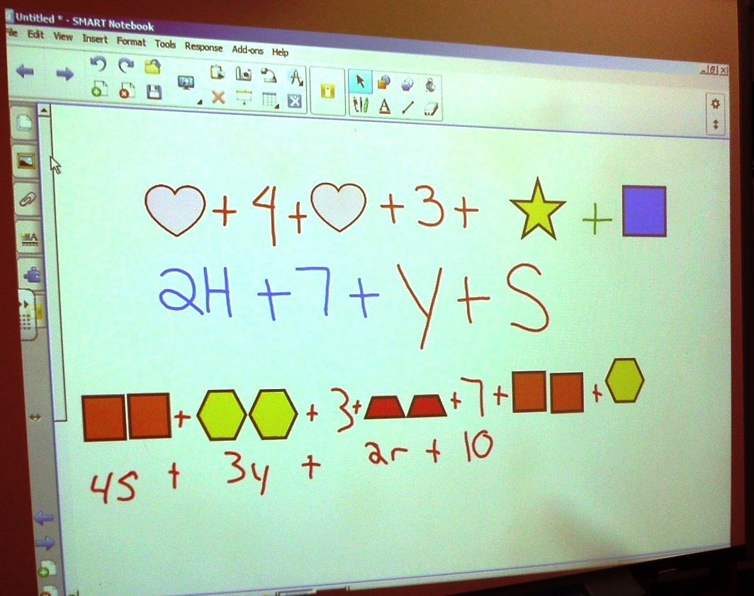 Combining like terms using visual models. Student created. | HVCP ...