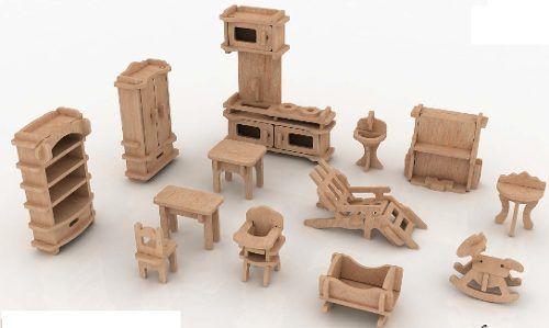 3e53c882b9f1 Muebles Miniatura Casa De Muñecas Mdf Kit Gmcm022 -   130.00