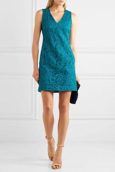 Corded Cotton-blend Lace Mini Dress - Turquoise Adam Lippes Quality 3DE3hsX