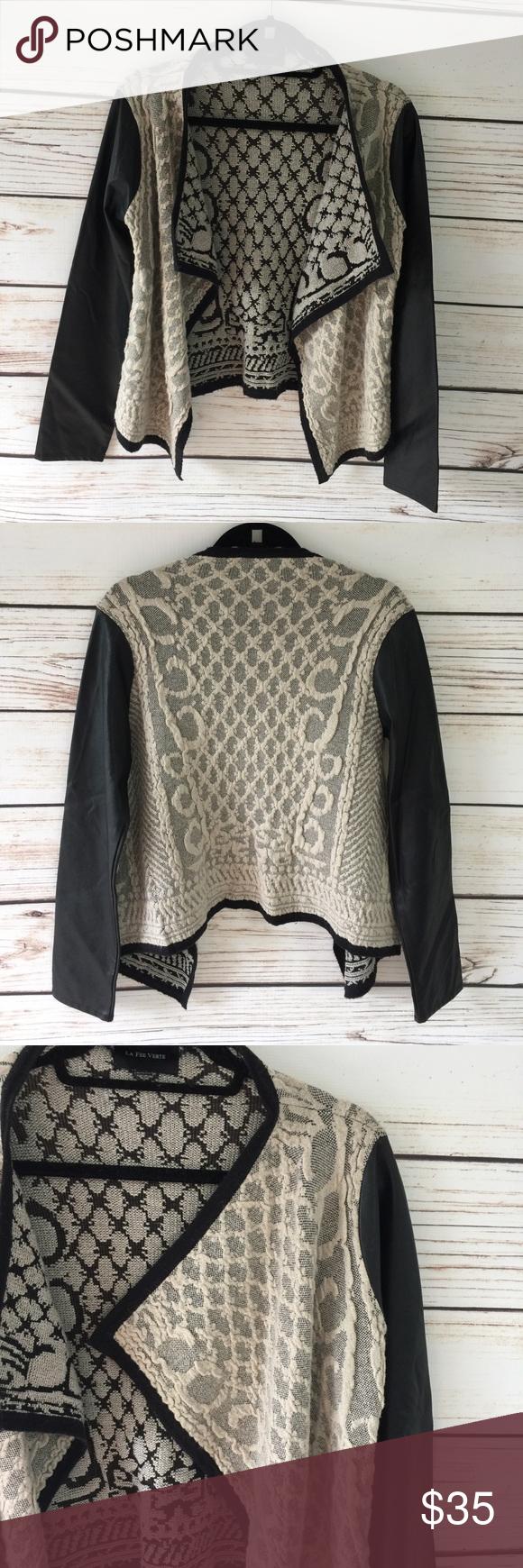 La Fee Verte Size Medium sweater/shrug/cardigan | Shrug cardigan ...