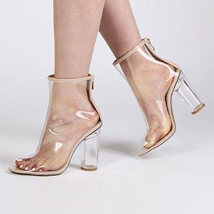 Chaussures à talon carré et bout pointu - BeigeTruffle I3zRm