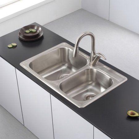 Kraus Ktm32 Double Basin Drop In Kitchen Sink Best Price Perabotan Dapur Dekorasi Dapur Wastafel