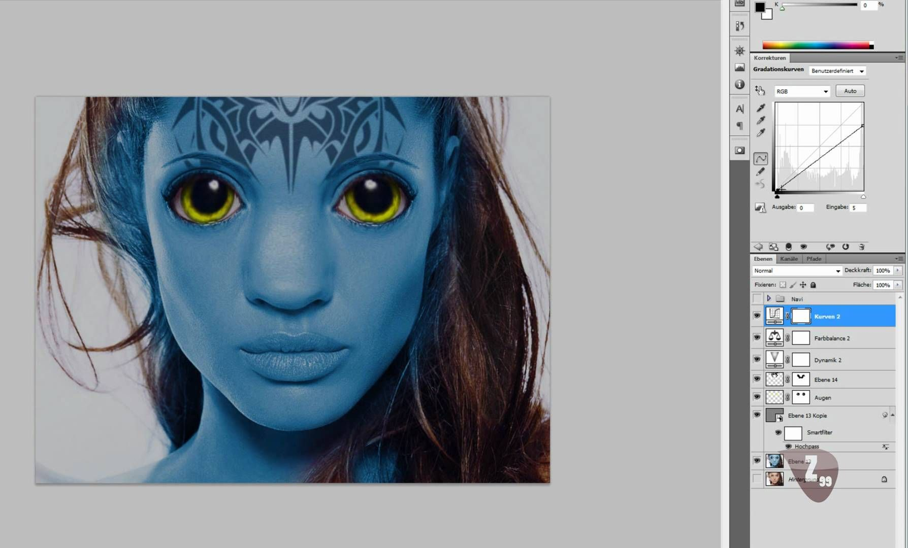 Navi avatar erstellen teil 34 photoshop tutorial avatar navi avatar erstellen teil 34 photoshop tutorial baditri Images