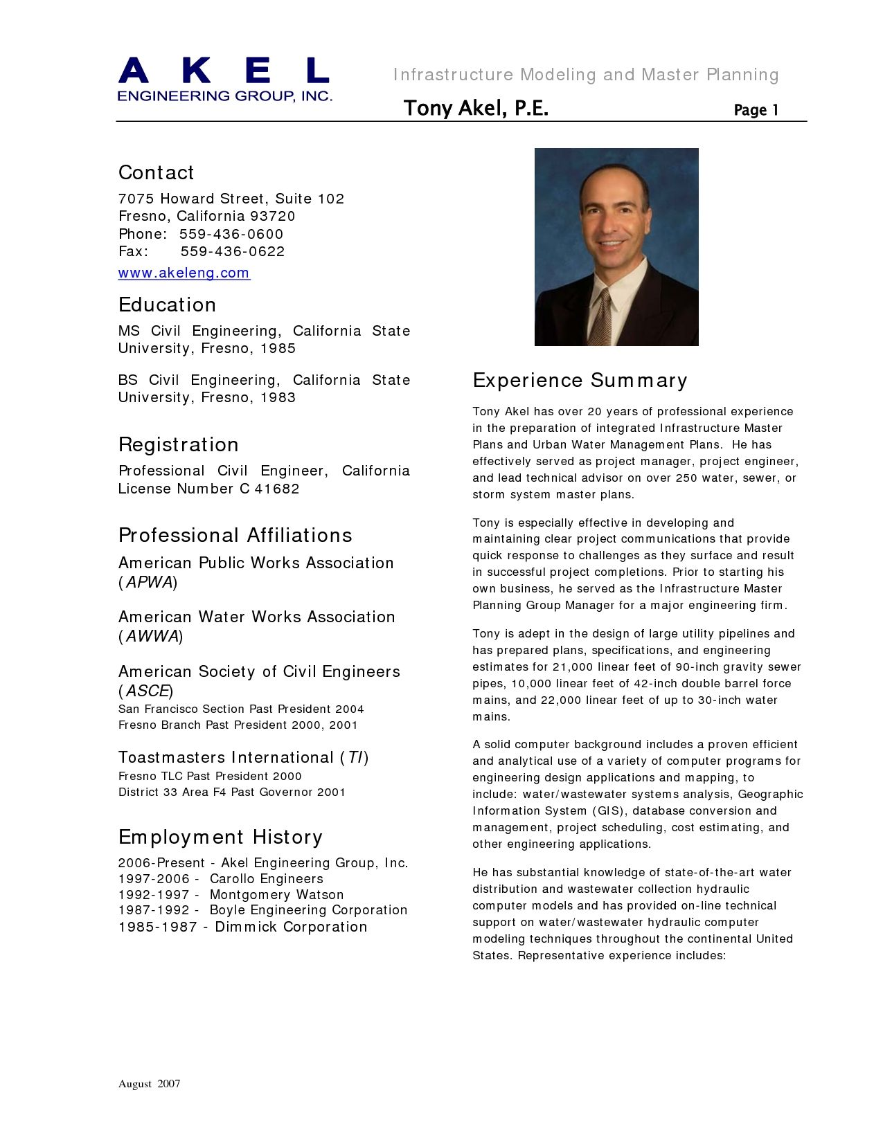 Cv Template Civil Engineer Civil Engineer Resume Engineering